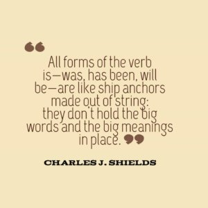Charlies J Shields writing tip