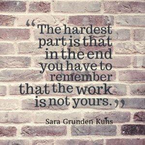 Sara Grunden Kuhs on writing