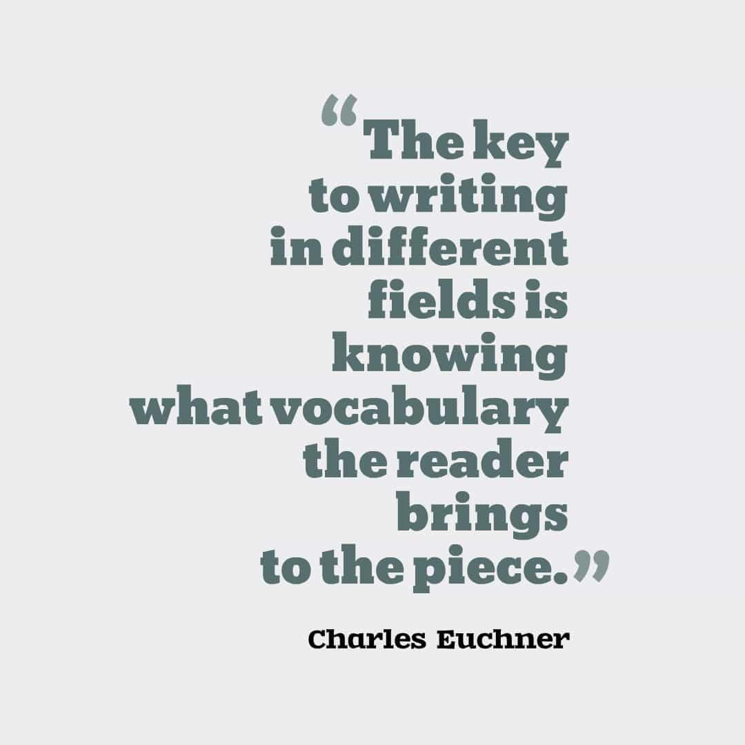 Charles Euchner quote - vocabulary