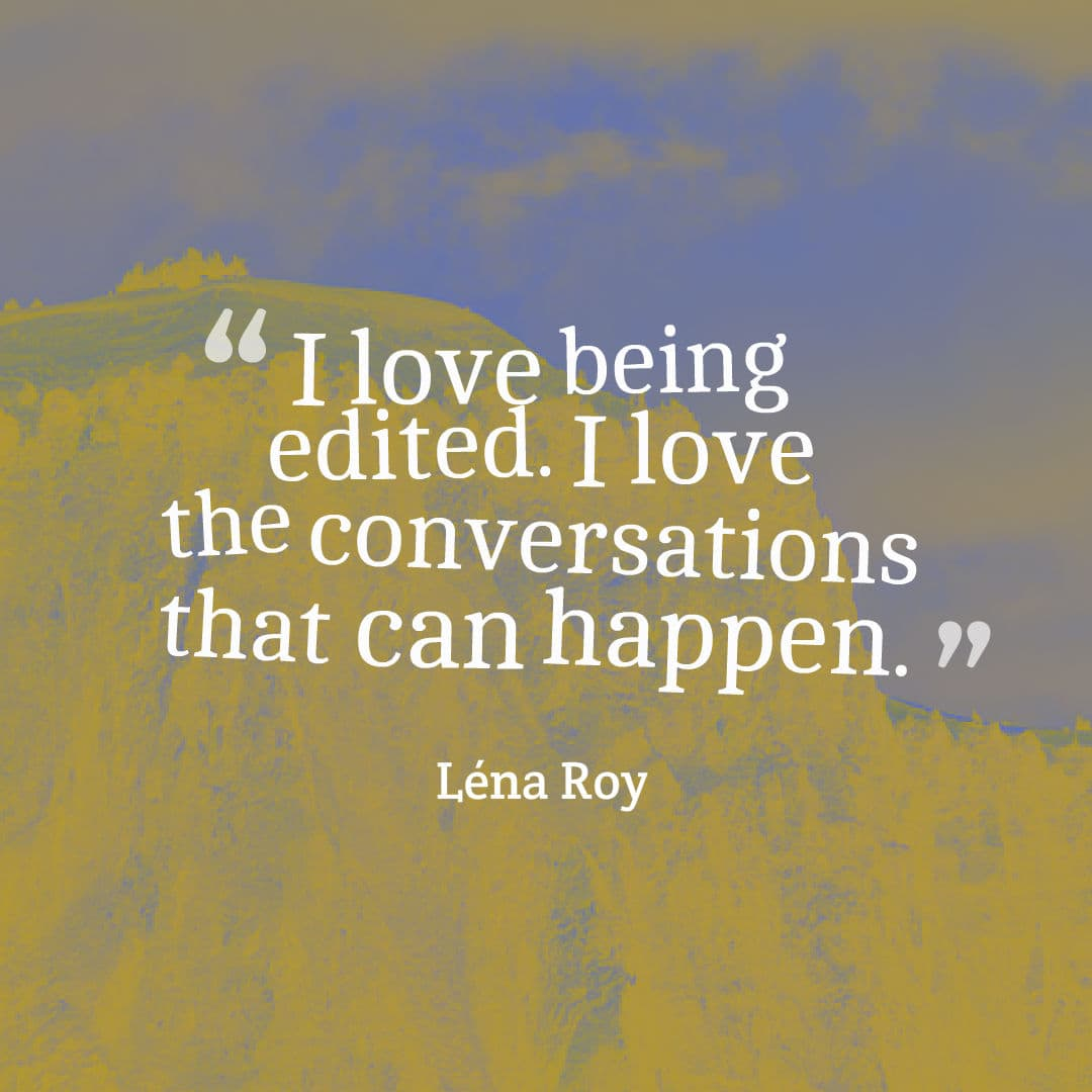 lena roy editing love quote