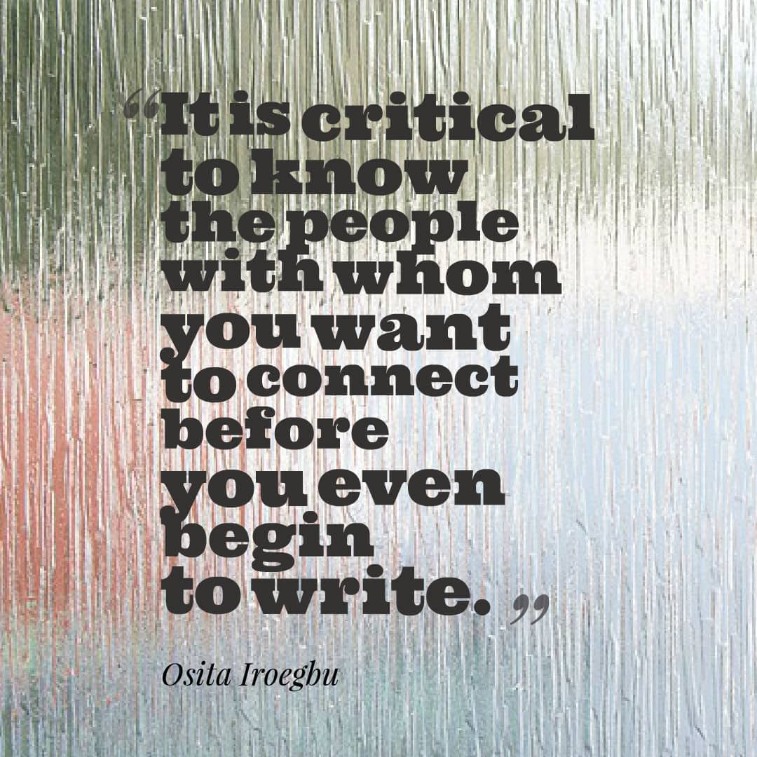 Osita Iroegbu quote on writing