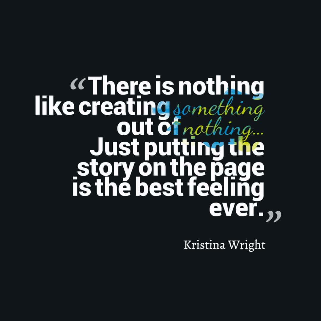 Kristina Wright editing quote