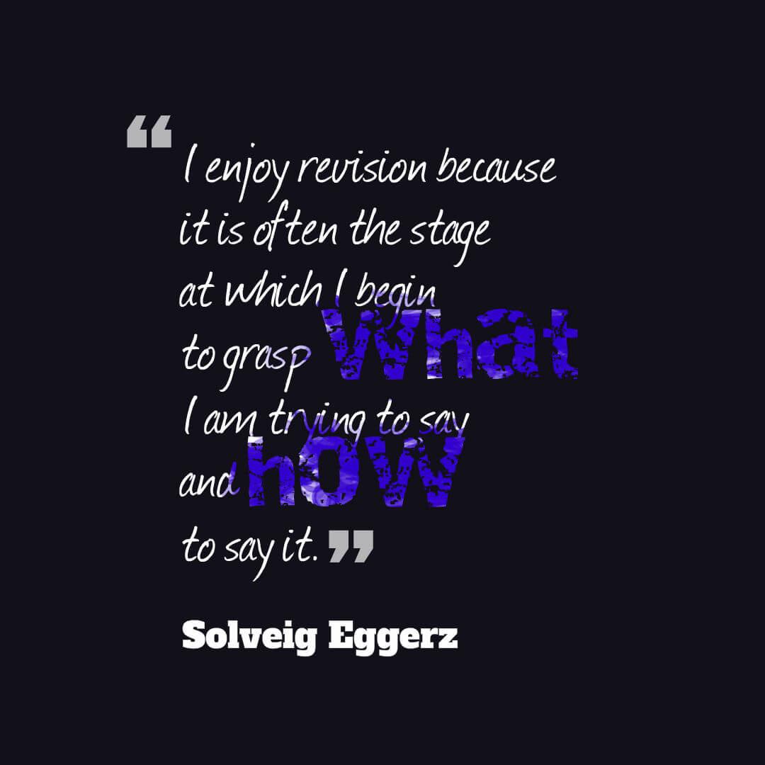 Solveig Eggerz revision quote