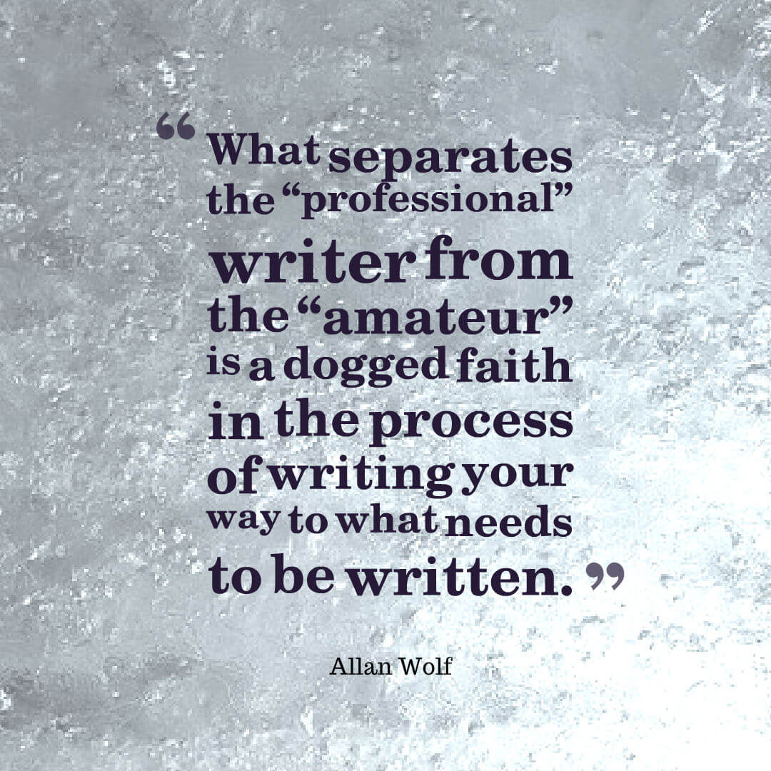Allan Wolf - professional writer quote