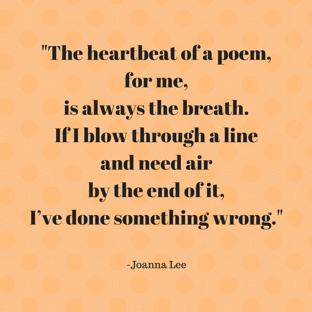 Joanna Lee - poem heartbeat quote