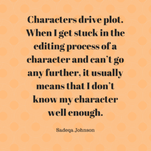 Sadeqa Johnson - quote on editing