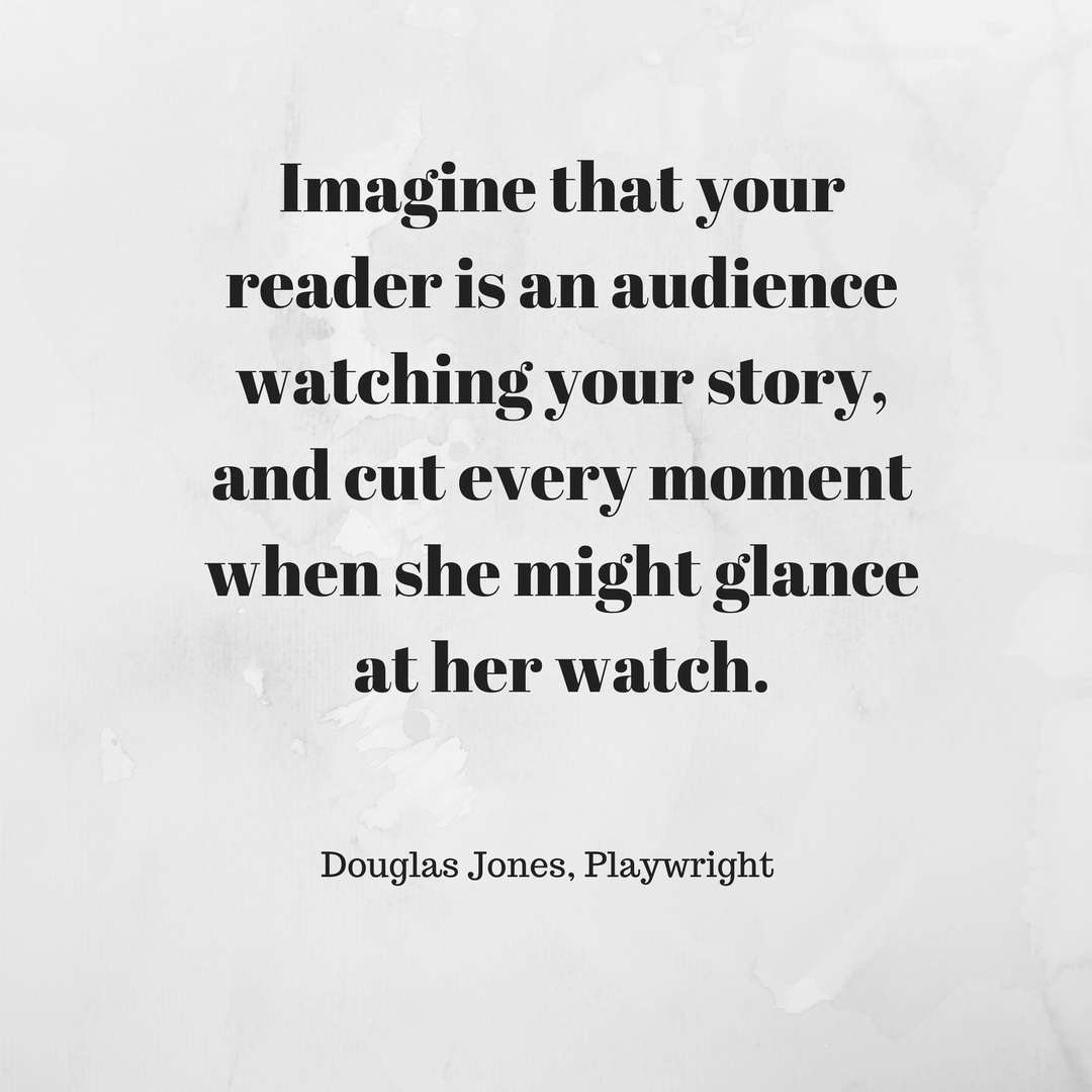 Douglas Jones editing quote
