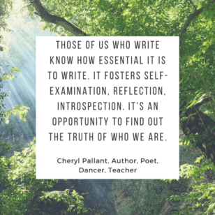 Cheryl Pallant quote on writing
