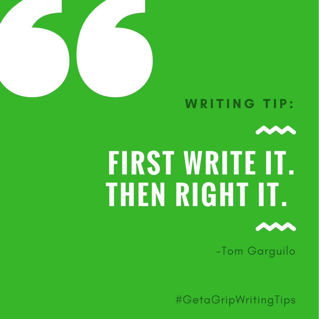 #GetAGripWritingTips 12