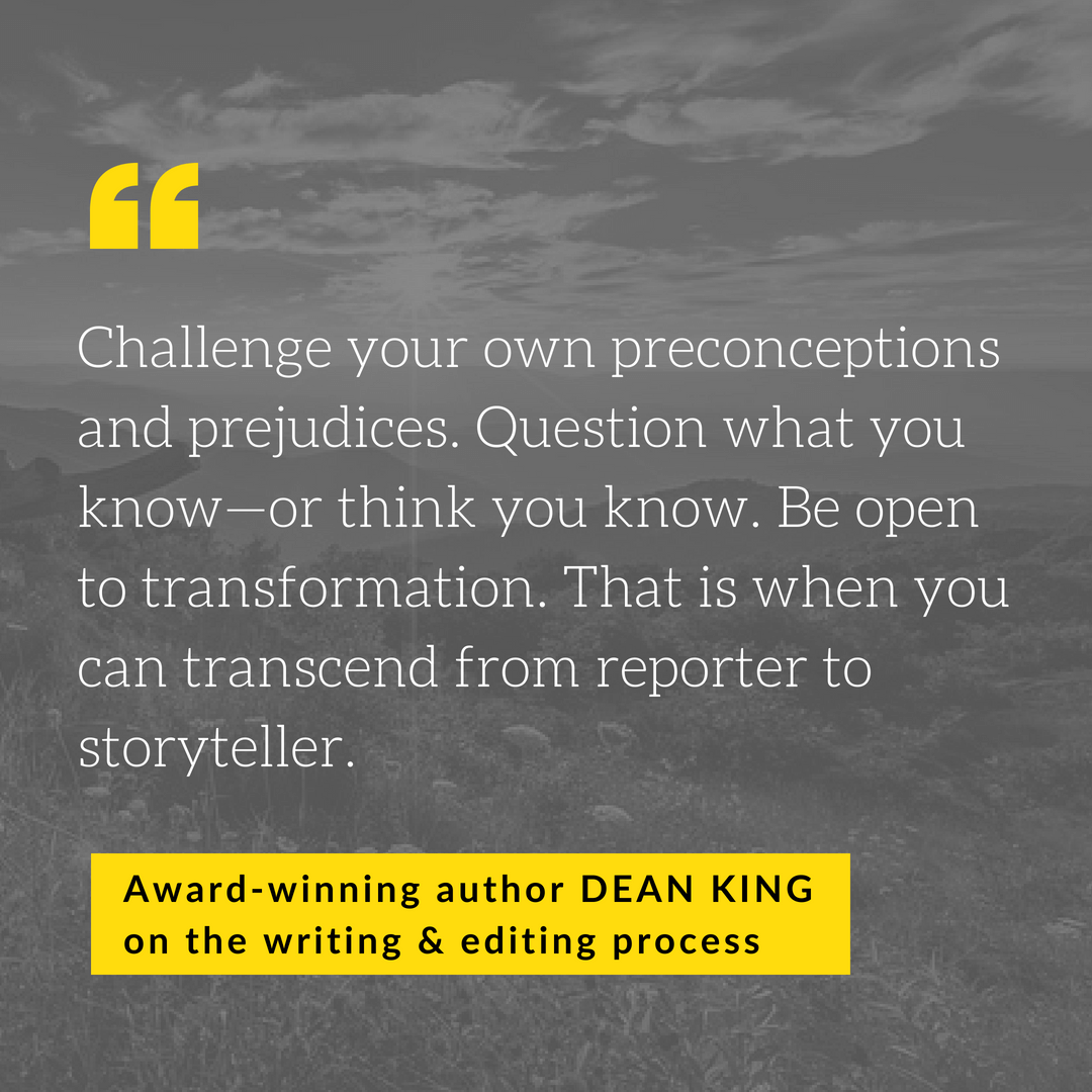 Dean King - on editing and writing
