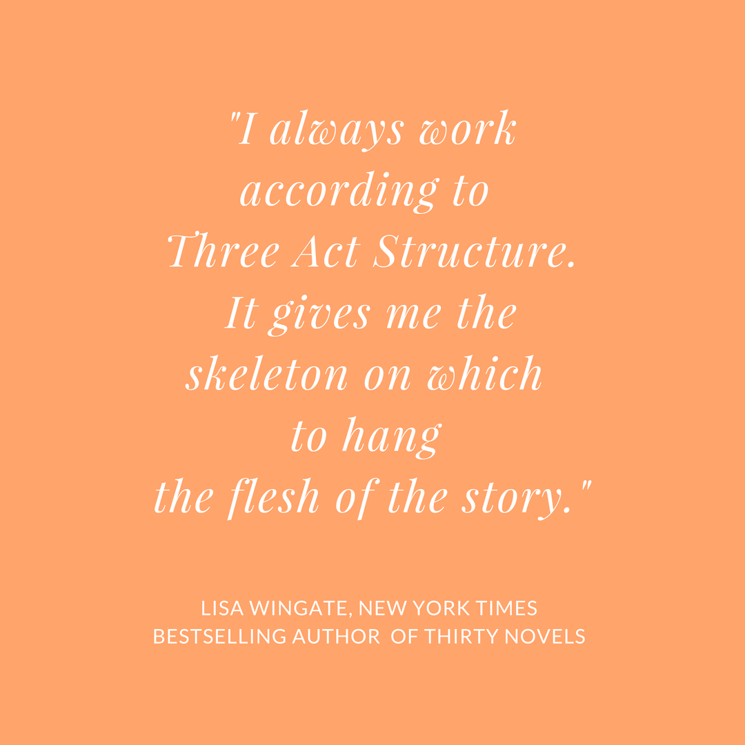 Lisa Wingate - Three Act Structure quote